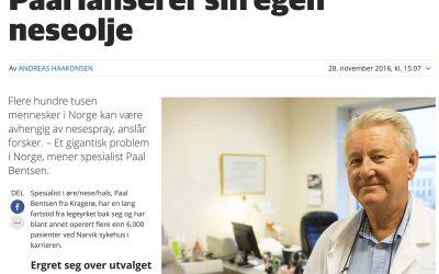Kragerø Blad: Paal lanserer sin egen neseolje