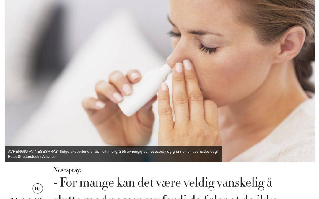 KK: – For mange kan det være veldig vanskelig å slutte med nesespray fordi de føler at de ikke får puste