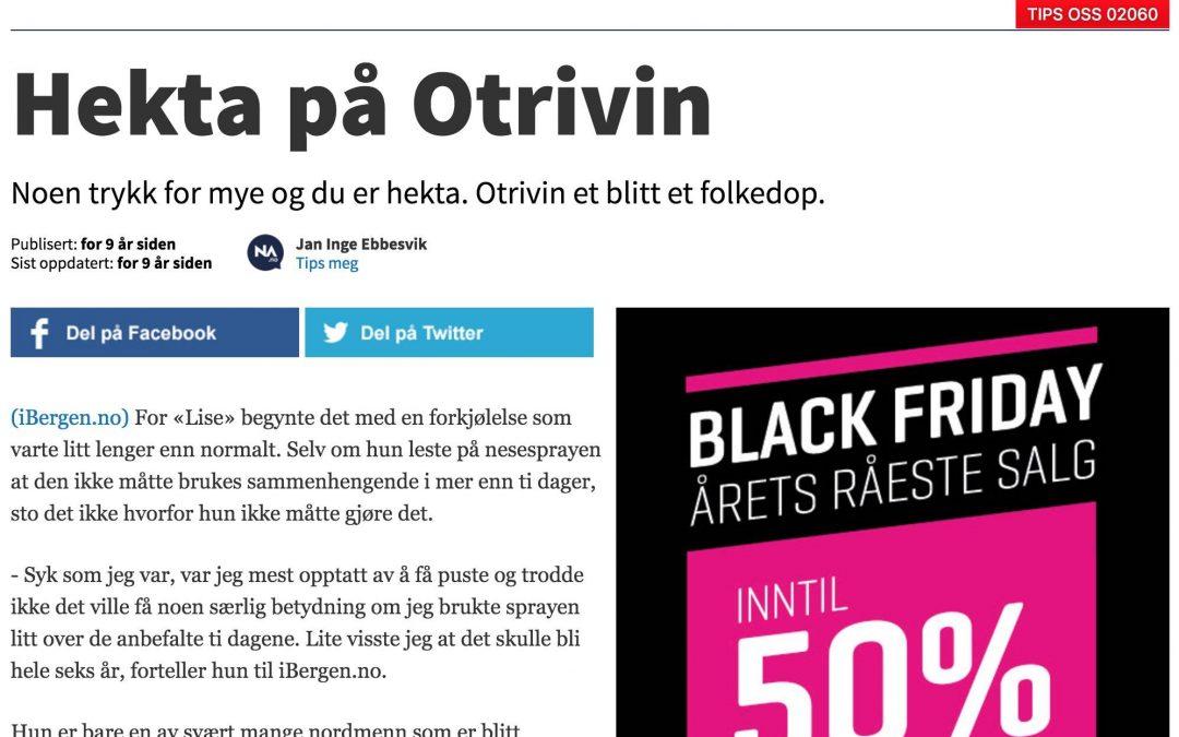 Nettavisen: Hekta på Otrivin