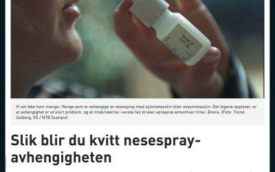 Forskning: Slik blir du kvitt nesespray-avhengigheten